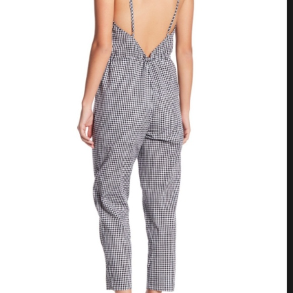 49b83d5f6408 NWT Wild Honey Gingham Cropped Jumpsuit